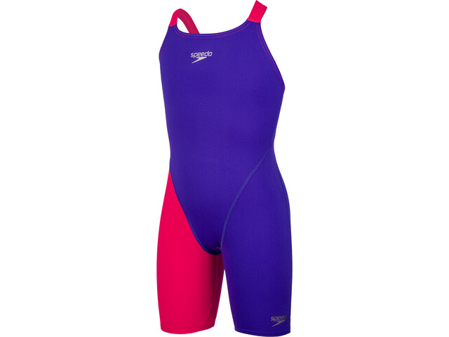 speedo Fastskin Endurance+ Openback Kneeskin Jenter purple/red
